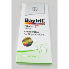 Baytril Flavour tablets 15mg (Dog and Cats) 20 tablets