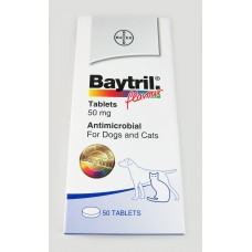 Baytril Flavour tablets 50 mg (Dog and Cats) 20 tablets