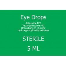 STERILE Eye Drop (Antazoline HCL,Tetrahydrozoline HCL,Benzalkonium Chloride,Hydroxypropyl methylcellulose)